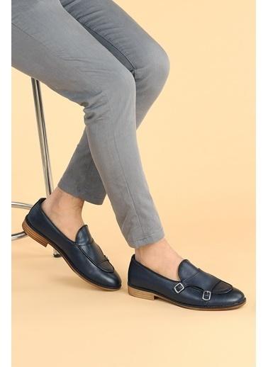 Ayakland Ayakland 1800 Cilt Günlük Kemerli Erkek Klasik Ayakkabı Lacivert